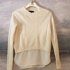 Layered mixed media sweater
